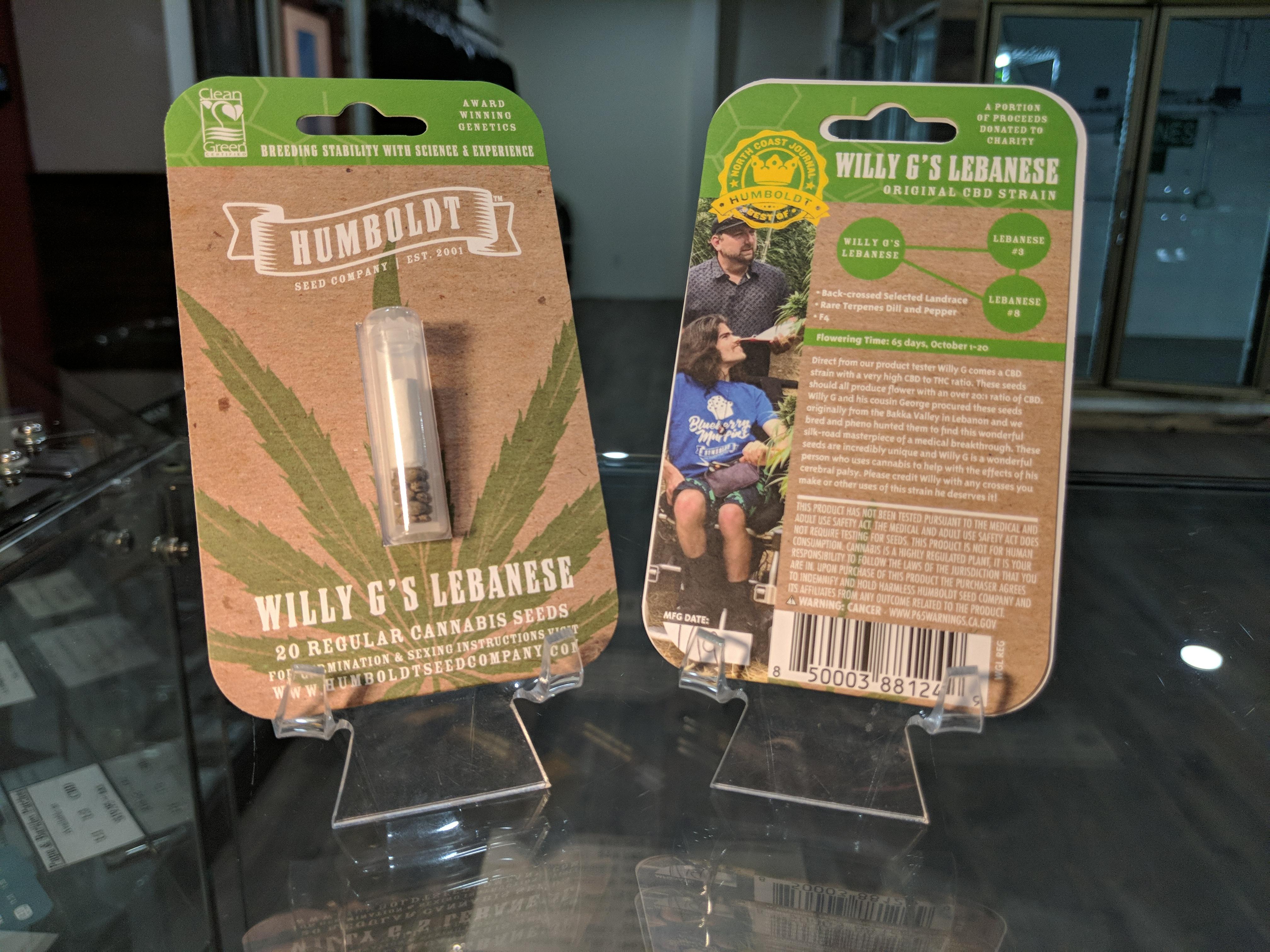 Humboldt Seed Willy G's | Kure Wellness | Medical Dispensary