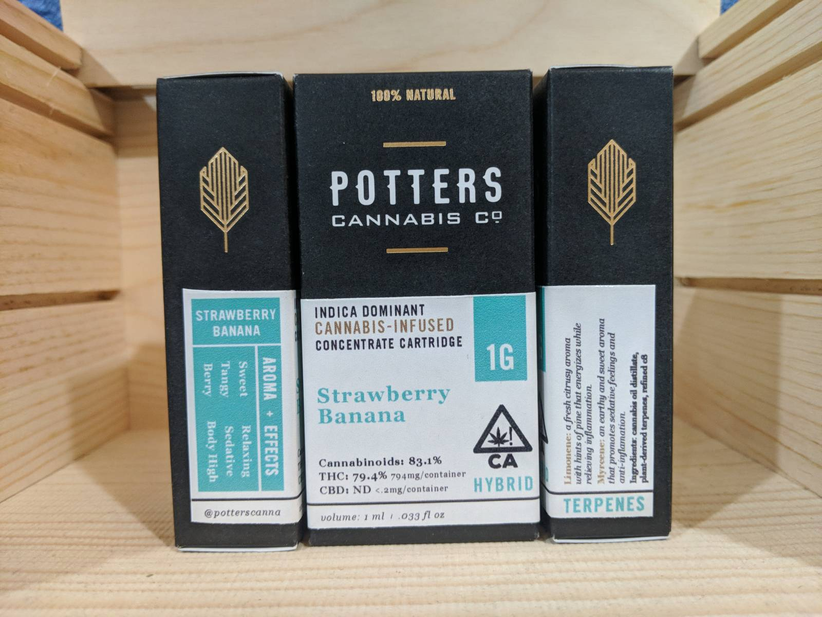 Strawberry banana full gram cartridge by potters