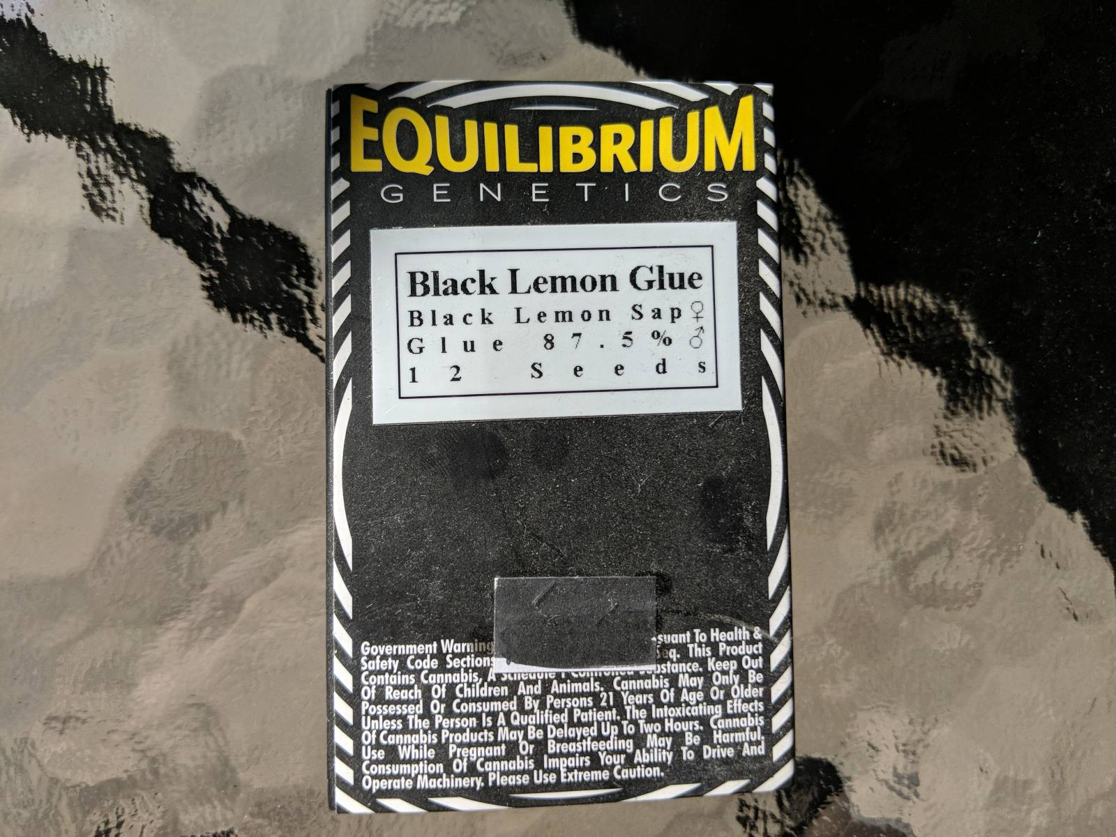 Equilibrium genetics black lemon glue 12 seeds