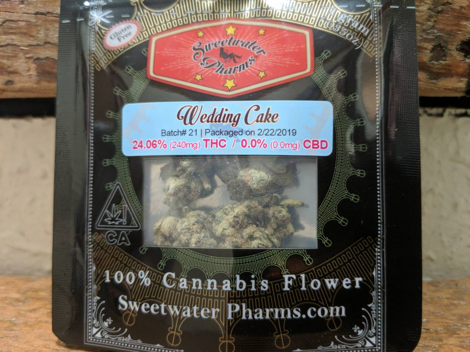 Sweetwater Farms wedding cake gram