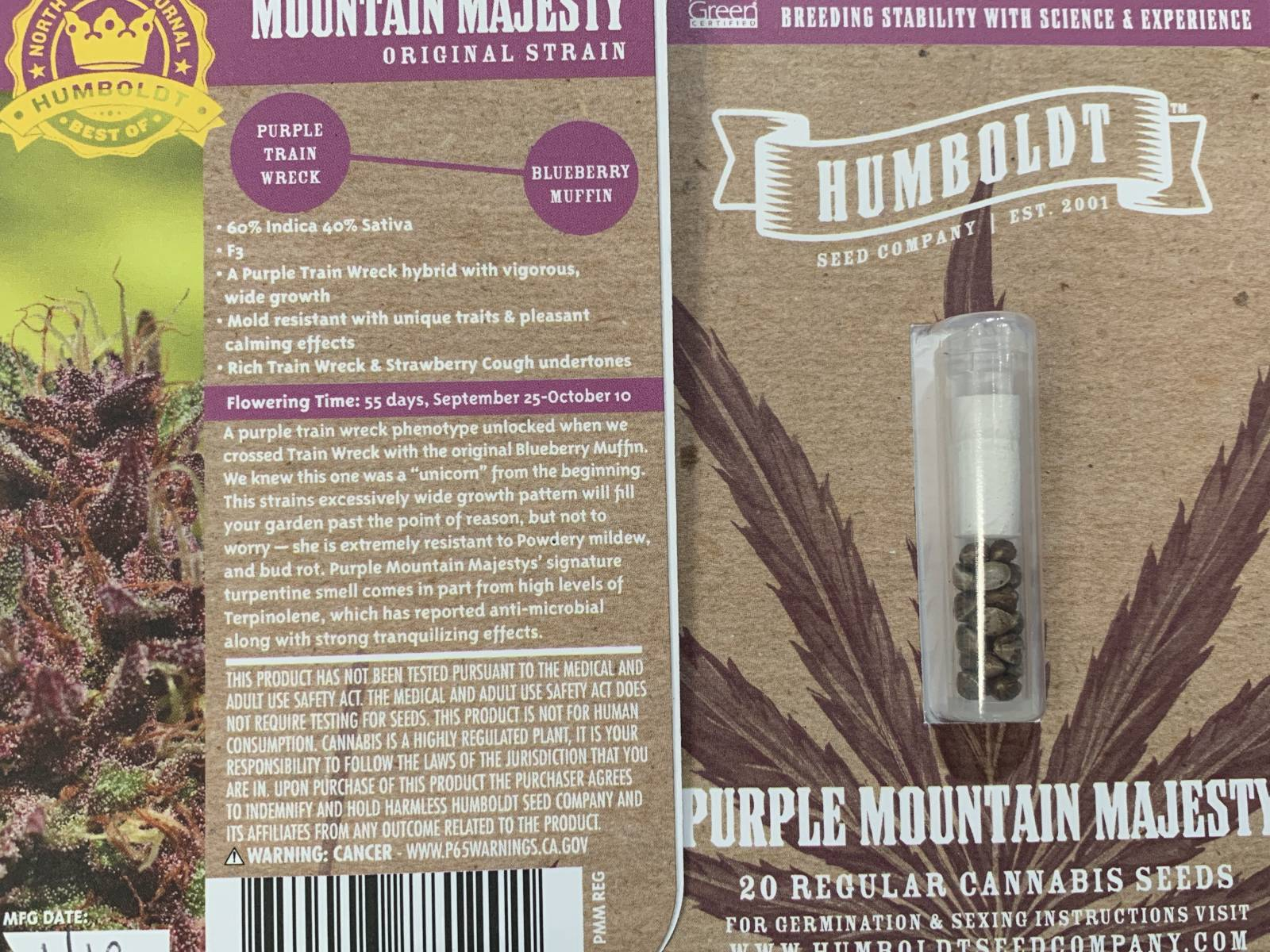 Humboldt Seed Co purple mountain majesty