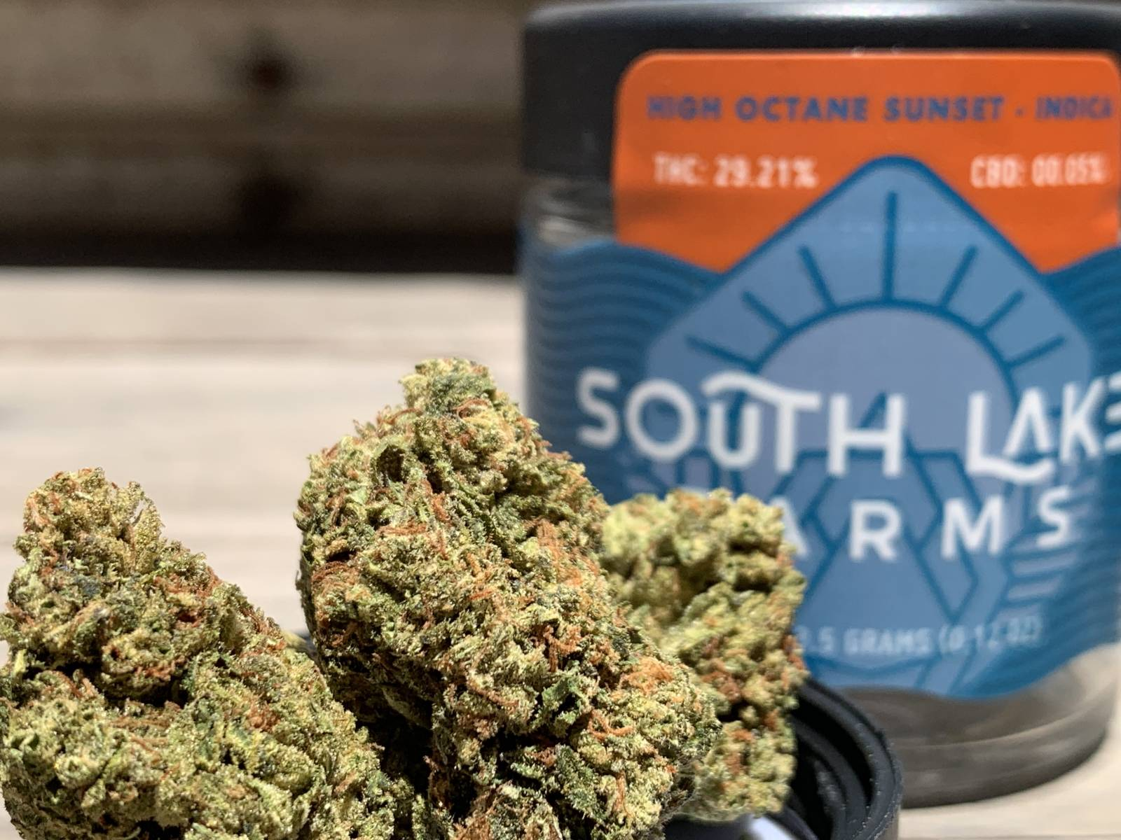 South Lake Farms High Octane x sunset Sherbert packaged eighth