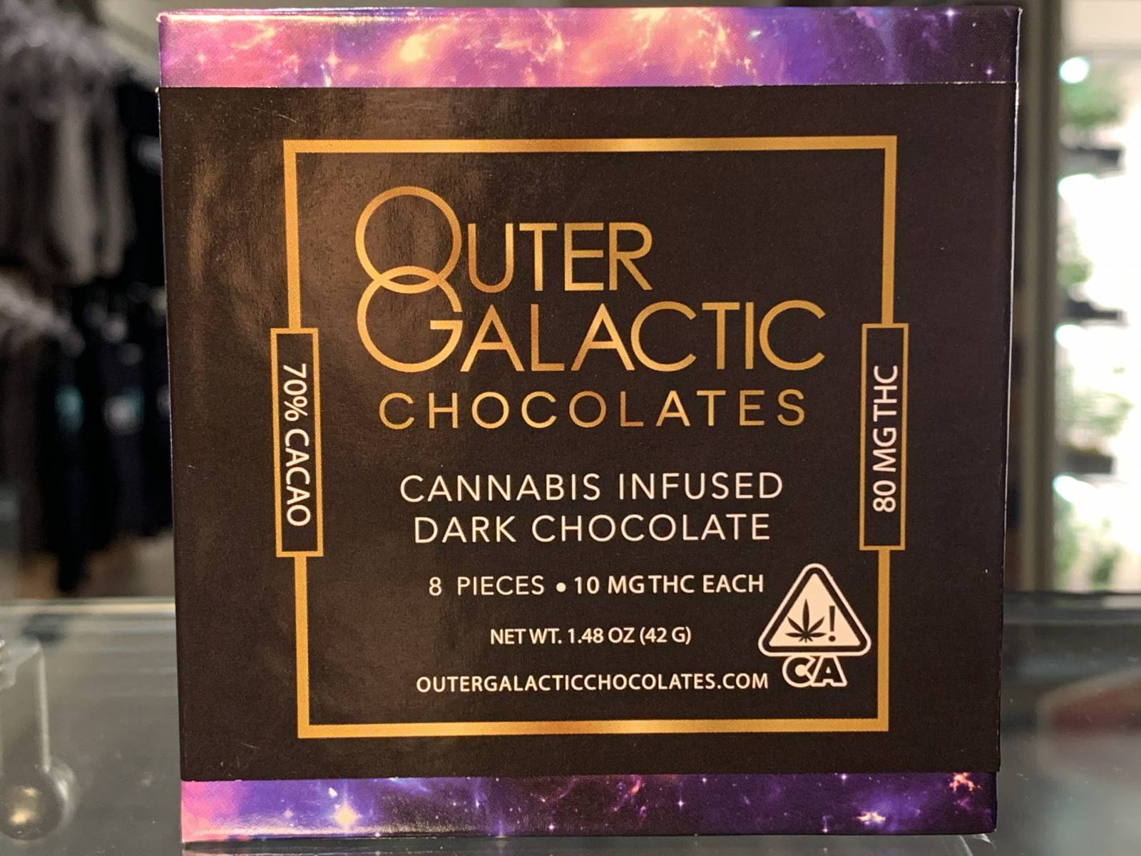 Outer Galactic infused dark chocolate 80mg thc
