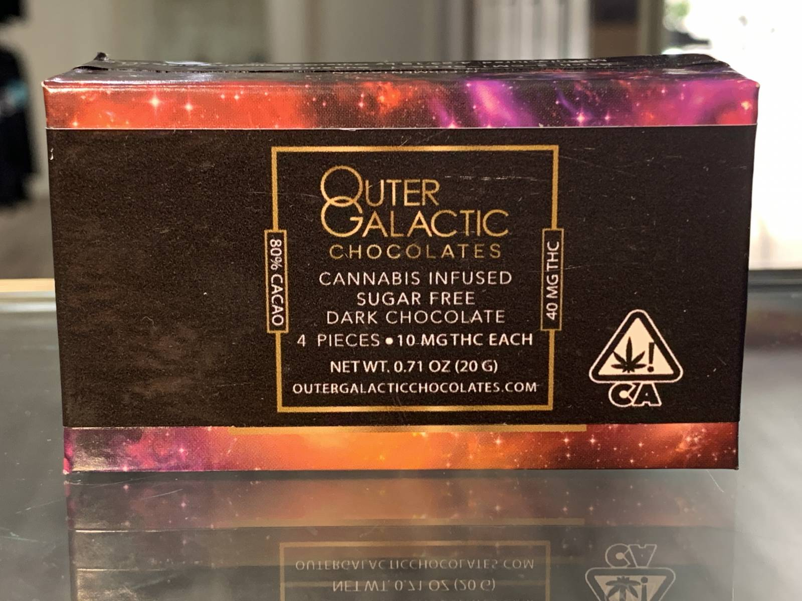 Outer Galactic sugar free dark chocolate 40mg