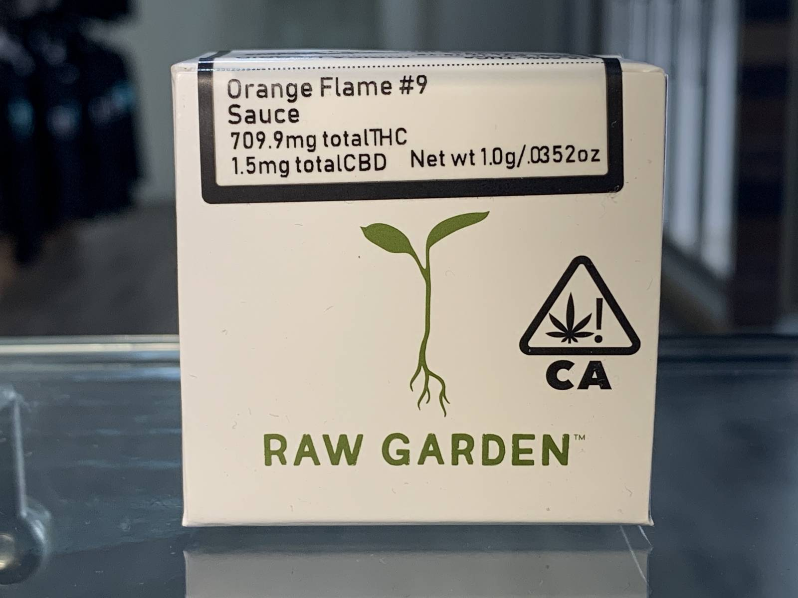Raw Garden Orange Flame #9 1 gram sauce