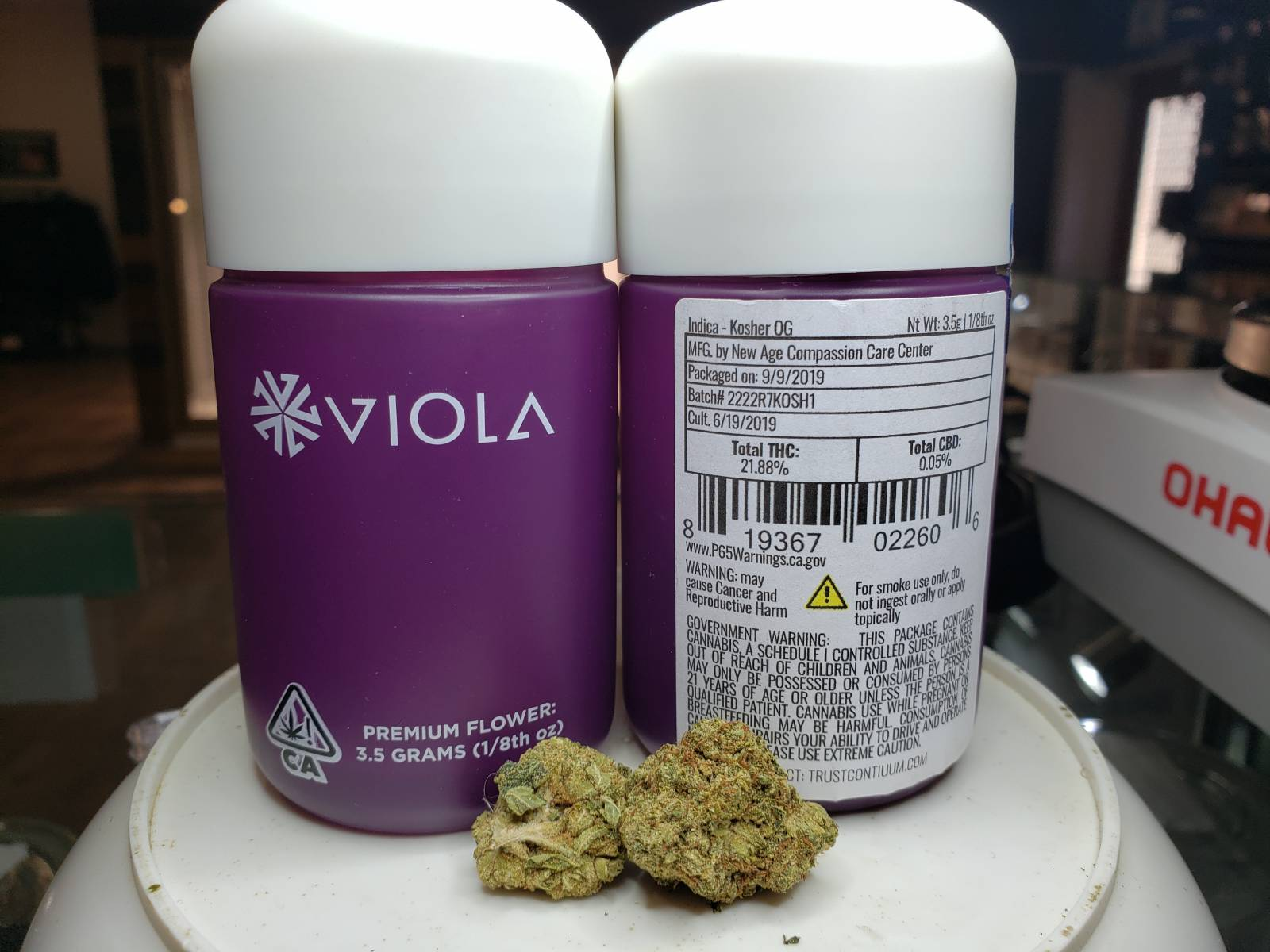 Viola kosher OG prepackaged eighth