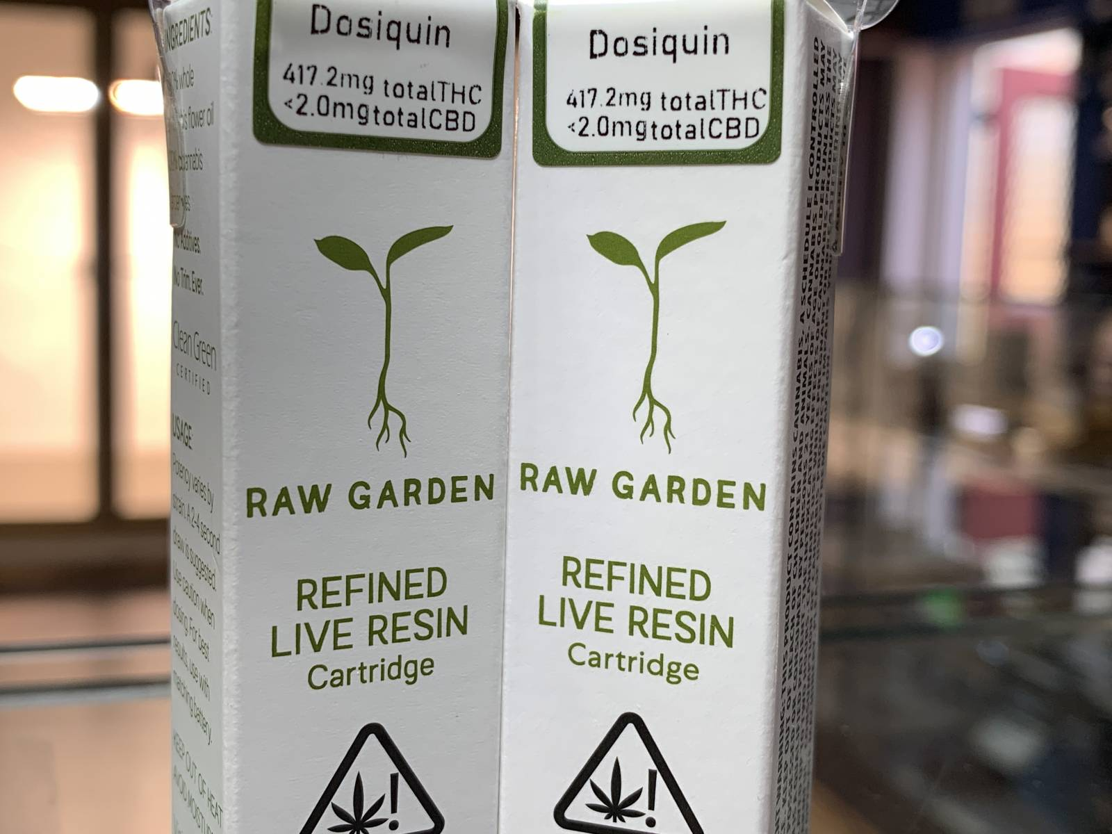 Raw Garden Dosiquin half gram cartridge