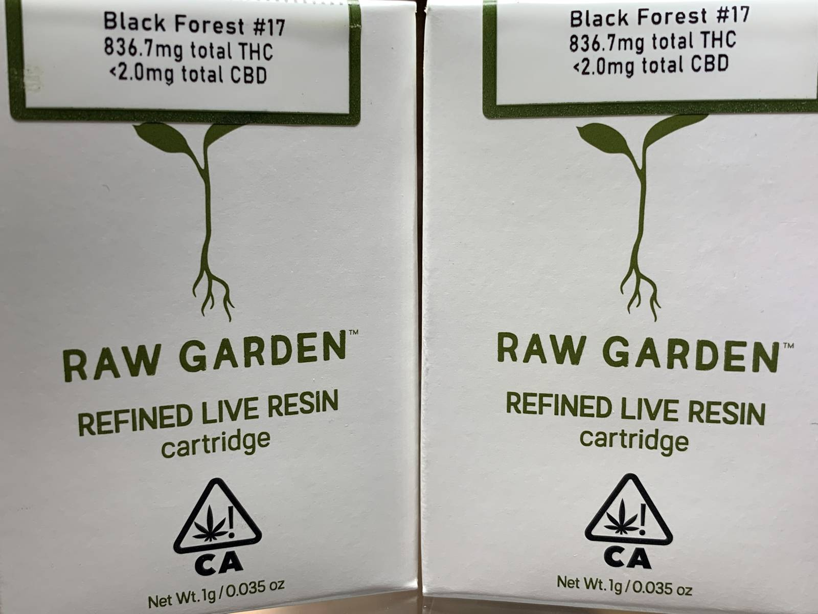 Raw Garden Black Forest #17 full gram cartridge