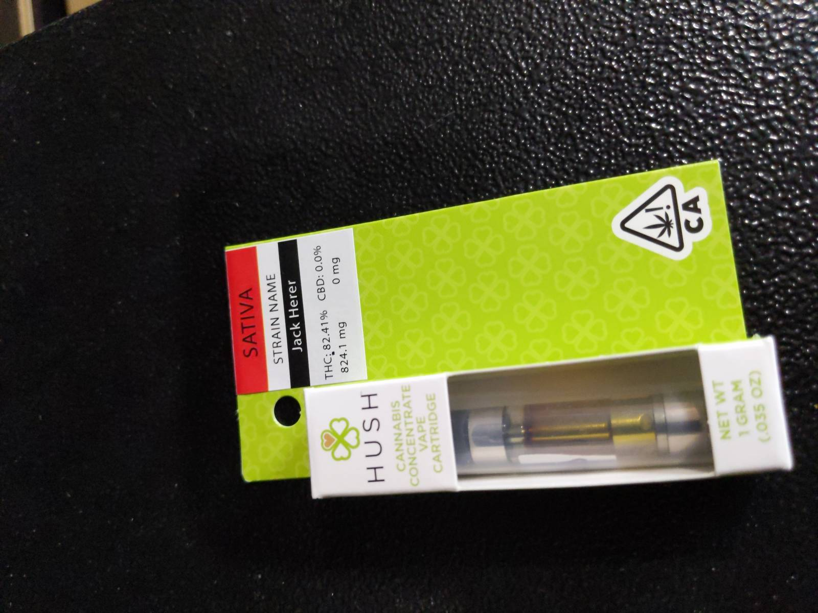 Hush 1g Cartridge: Sativa-Jack Herer