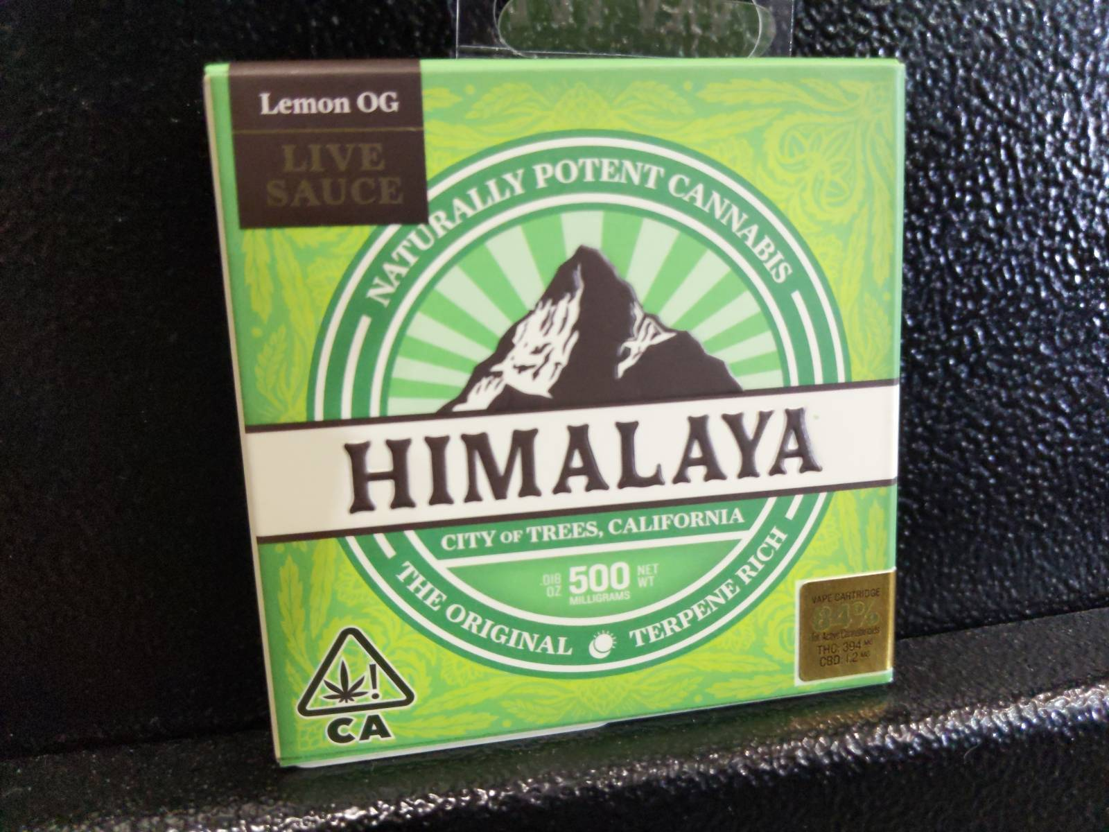 Himalaya .5g Cartridge:Hybrid (Live Sauce)- Lemon OG