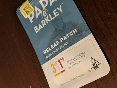 Papa & Barkley CBD 3 CBD : 1THC  Release Patch