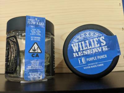 Willie's Reserve prepackaged 1/8th purple punch indica