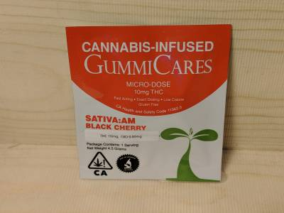 GummiCares 10mg THC sativa gummy