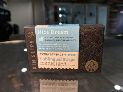 Kin Slips Nice dream Indica 20mg THC sublingual strips