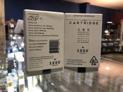 Leef Organics 8:1 CBD Cartridge