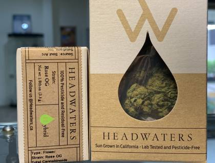 Headwaters rose og packaged eighth